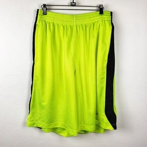 Nike | Neon Mens Gym Workout Athletic Shorts Large